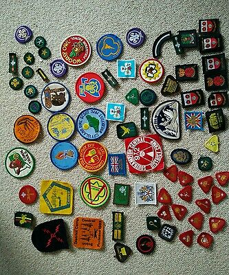 Collection of scouts, guides, brownies patches