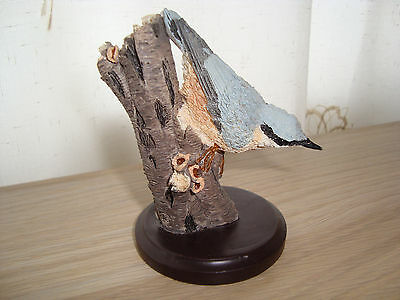 NUTHATCH - resin bird figurine from COUNTRY BIRD COLLECTION
