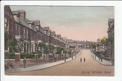 Wales Glamorgan Barry Windsor Road Postcard Posted 1905