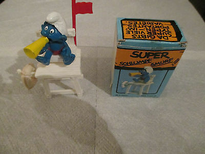 Vintage Boxed Super Smurf Lifeguard