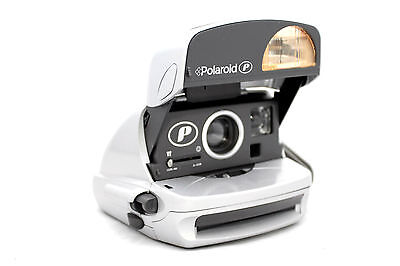 Polaroid P600 Gloss Silver Instant Film Camera | Fully Working