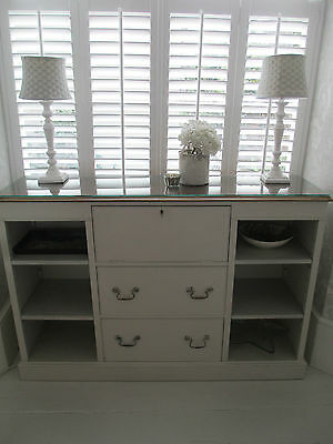 Vintage Sideboard with drawers & cupboard Shabby Chic Painted Farrow and Ball
