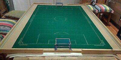 Subbuteo table top with Pegasus Astroturf pitch and box goals