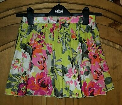 Next Girls Floral Lined Party Skirt (Age 9)