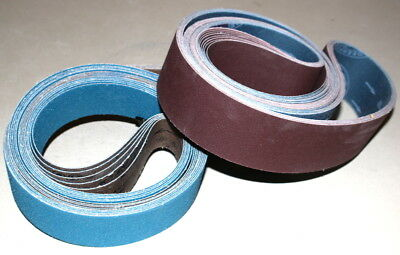 "20 pc. Knife Making pack  2"" x 72"" Sanding Belts A/Z, A/O, Film  #2"