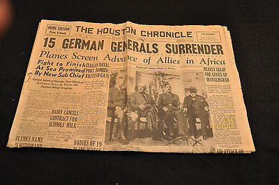 The Houston Chronicle: February 1, 1943: 15 German Generals Surrender