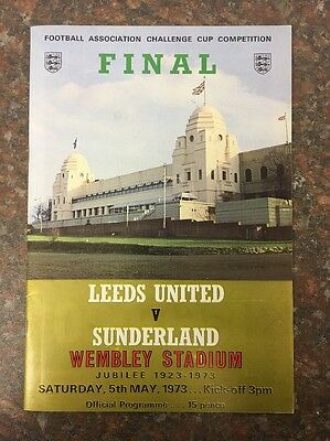 Leeds United Vs Sunderland FA Cup Final Football Programme From 1973