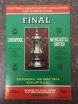 Liverpool Vs Newcastle United Fa Cup Final Football Programme From 1974