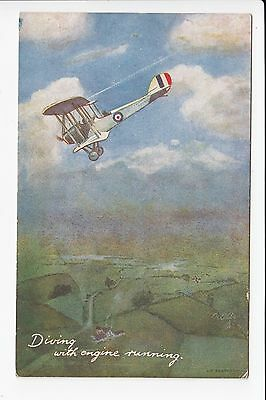 Tucks In The Air Series 1 'Diving with the Engine Running' Aviation Postcard