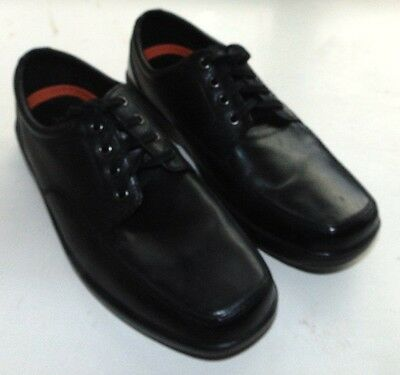 M&s Airflex Mens Lace Up Black Leather Uppers Size Uk9 Wider Fit