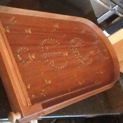 Nearly New Vintage Classic Wooden Bagatelle Portable Tabletop Pinball Game