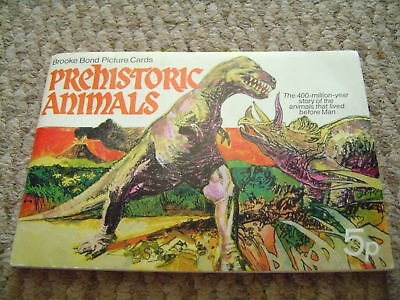 Prehistoric Animals Album & Cards Complete By Brooke Bond Tea