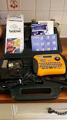 Brother P-Touch 1260  Labelling Machice In Case And Charger