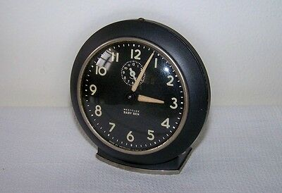 Vintage 1949-1956 WESTCLOX 61-V Black Face BABY BEN Wind-Up Alarm Clock USA