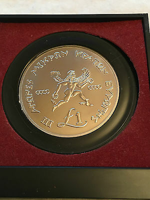 Cyprus 1989 Iii Games Europe's Small States - Silver Coin