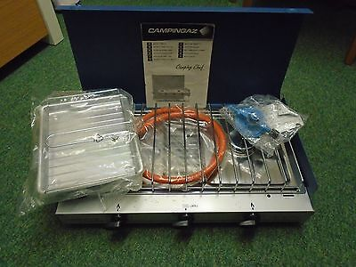 CampingGaz Camping Chef Double Burner Stove with Grill