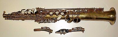nice soprano saxophone with 2 crooks and link mouthpiece