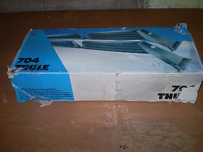 Thule 704 Lockable Ski rack with quick clip fastener ~ New in Box