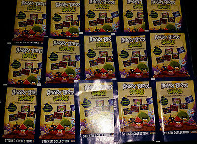 125 STICKERS ANGRY BIRDS SPACE  GIROMAX ( neuf )