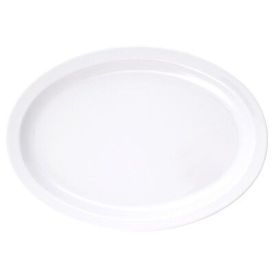 "1/2 dozen Thunder Group OVAL MELAMINE PLATTERS 15.5"" x 10.875"" White(NS516W) 6ct"