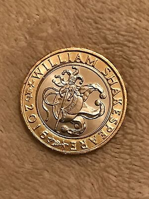 William Shakespeare Rare £2 Coin Two Pound Coin Comedies 2016
