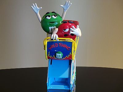 M&m Chocolate Red & Green Wild Thing Roller Coaster Candy Figure Toy Dispenser