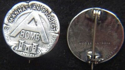 WWII Manhattan Project A-Bomb Sterling Pin