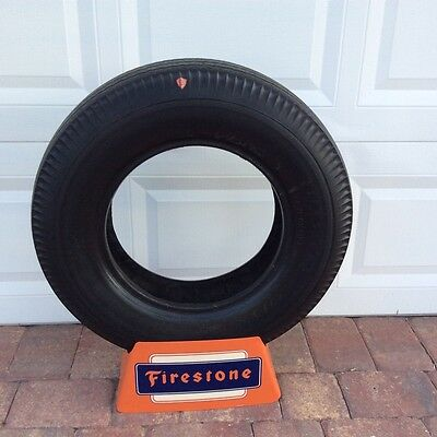 Vintage Firestone Tire and Stand, Great Garage Item