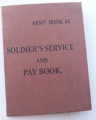 WW2 British Army Service Book AB64 Part 1 & 2 - reproduction