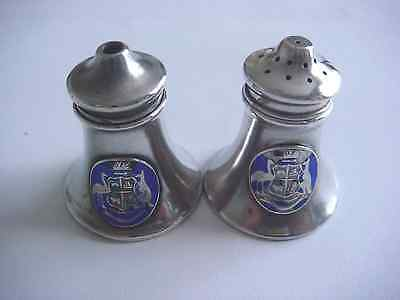Sterling Silver Salt & Pepper Condiment Set from New South Wales, Australia 47gm