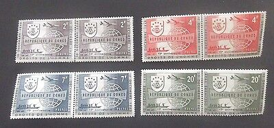 Congo-1963-Human Rights-Full set of Joined pairs-MNH