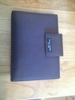 Kate Spade Brown Leather Personal Agenda Planner Diary