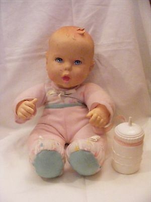 Vintage Gerber Baby Doll with bottle- 1997 Toy Biz