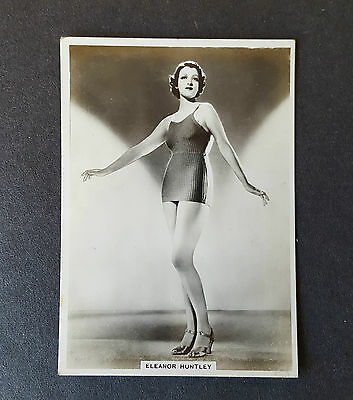 MODERN BEAUTIES 4th SERIES - #16 ELEANOR HUNTLEY - 1937 - B.A.T. Cigarette Card