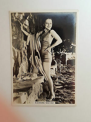 MODERN BEAUTIES 4th SERIES - #35 ELEANORE WHITNEY - 1937 - B.A.T. Cigarette Card