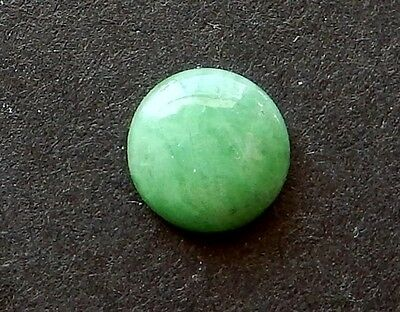 Natural China Round  Cab Green Jadeite   5.7 mm  TW  .49 cts.