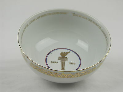 Avon 1985 Liberty 1886-1986 Bowl Trimmed in Gold w/Liberty Flame