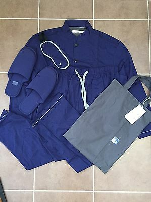 Pyjamas Cathay Pacific Pye First Class Airline Blue Size Medium Brand New