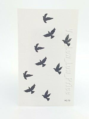 New High Quality Temporary Bird Tattoo Waterproof Long Lasting Birds