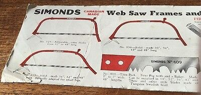 Simonds Saw Co. Advertising Blotter Planer Knives Canada Saw Co. Montreal