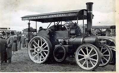 RP Postcard TRACTION ENGINE Greywood Central 33632