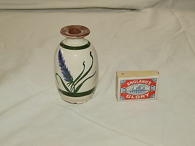 LARGE TORQUAY POTTERY DEVON LAVENDER PERFUME BOTTLE 4 inches high