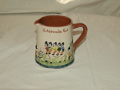 TORQUAY POTTERY COMPANY HELE CROSS RELIEF MOULDED JUG  'Widecombe Fair'