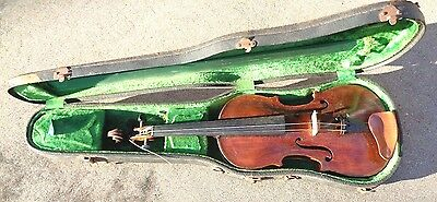 antique full size 4/4 violin in case ready to play