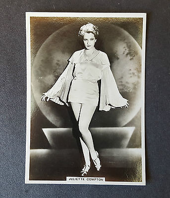 MODERN BEAUTIES 4th SERIES - #20 JULIETTE COMPTON - 1937 - B.A.T. Cigarette Card