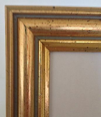 Vintage Style Gold Photo Picture Frame Holds Photo 4x6""