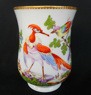 ANTIQUE 18th CENTURY CHELSEA PORCELAIN HAND PAINTED MUG = GOLD ANCHOR PERIOD