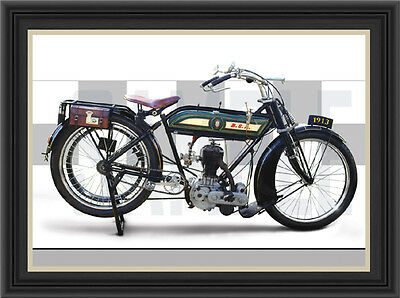 Bsa 1913 Motorcycle Print / Poster