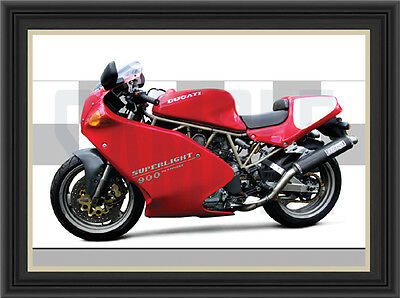 Ducati Superlight 900 Motorcycle Print / Poster