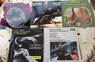 5 x Beethoven Orchestral LPs